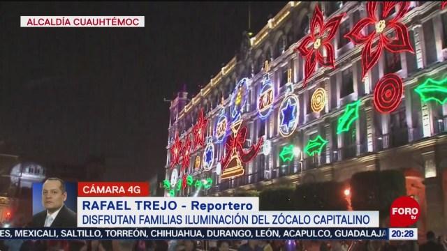 FOTO: Familias disfrutan iluminación navideña del Centro Histórico, 7 diciembre 2019