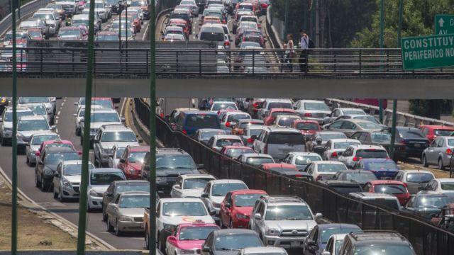 Foto: Trafico y contaminación en la Ciudad de México. Cuartoscuro