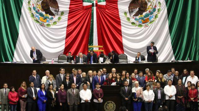 Foto: Sesión en la Cámara de Diputados.