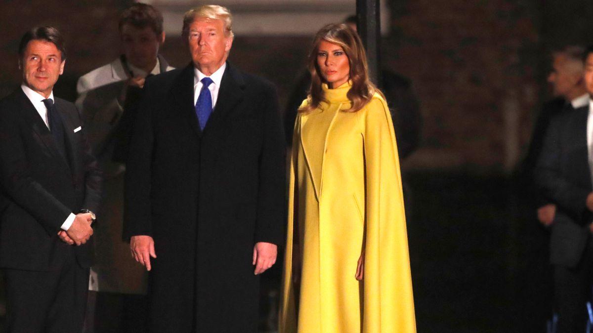 Foto: Donald y Melania Trump viajan a Londres para la cumbre de la OTAN. AP