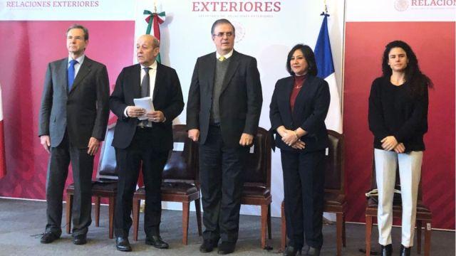 Foto: autoridades de México y Francia firmaron seis acuerdos.
