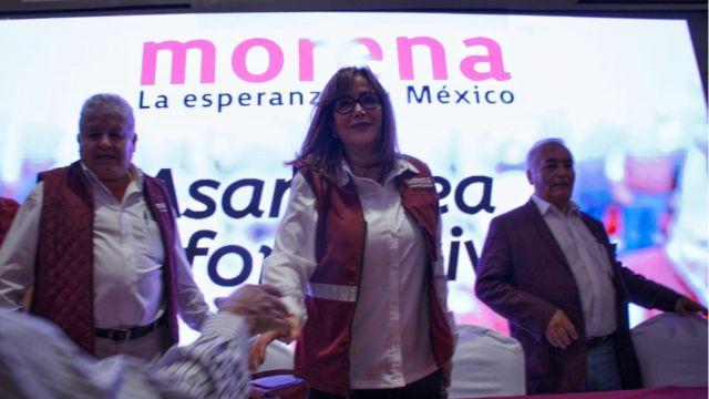 Foto: Yeidckol Polevnsky, presidenta nacional de Morena. Cuartoscuro