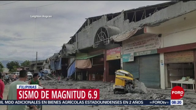 FOTO: Fuerte sismo sacude Filipinas, 15 diciembre 2019