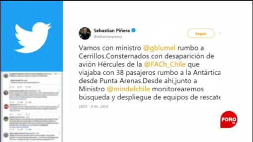 Foto: Desaparición Avión Fuerza Aérea Chile Reporta 9 Diciembre 2019