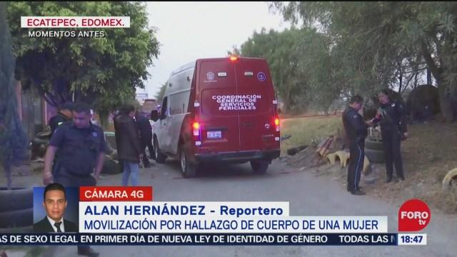 Foto: Hallan Cuerpo Mujer Quemándose Ecatepec 27 Diciembre 2019
