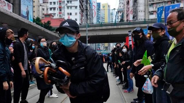Hong Kong recibe el 2020 con protestas y enfrentamientos
