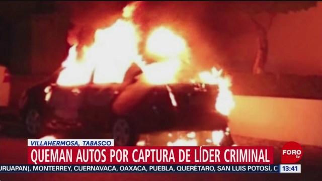 FOTO: incendian varios vehiculos en villahermosa tabasco