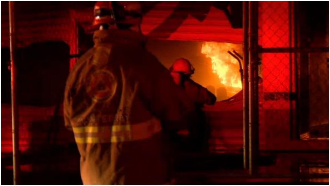 Foto: La noche del viernes se registró un fuerte incendio en fábrica de Monterrey, 7 de diciembre de 2019 (Foro TV)