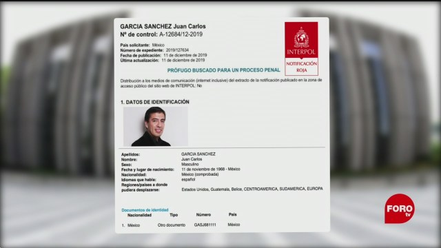Foto: Interpol Busca Juan Carlos García Exesposo Abril Pérez 13 Diciembre 2019