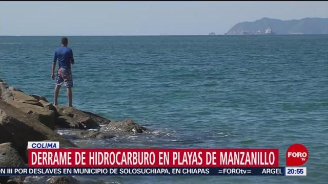 Foto: Derrame Hidrocarburo Playas Manzanillo Investigan Origen 13 Diciembre 2019