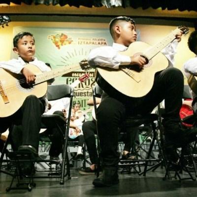 Foto: La alcaldesa, Clara Brugada, indicó que se integraron 108 grupos musicales y con ello se busca que sus pobladores no sean conocidos por la nota roja, sino por la nota melódica de sus canciones
