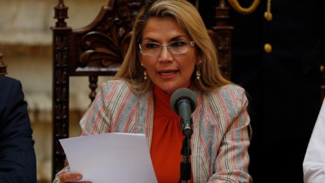 Foto: La presidenta interina de Bolivia, Jeanine Áñez, 28 noviembre 2019