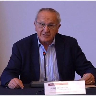 Foto: Jesús Seade comparte desacuerdo de México con Estados Unidos por iniciativa de ley fuera del T-MEC, 14 de diciembre de 2019 (Foro TV)