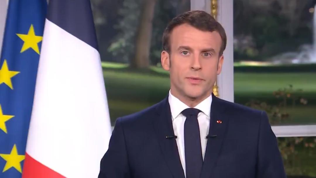 FOTO: Macron defiende reforma de pensiones en mensaje de fin de año, el 31 de diciembre de 2019