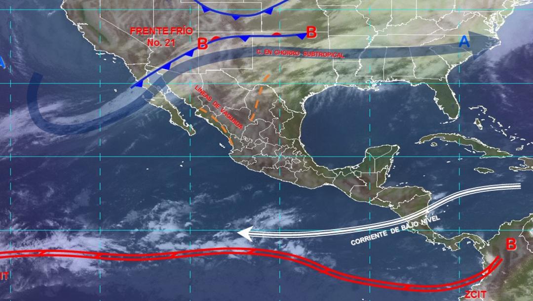 IMAGEN Tercera tormenta invernal desata frío y aguanieve (Conagua)