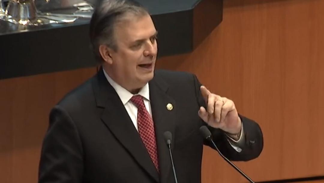 FOTO Marcelo Ebrard comparece ante el Senado; buscamos coexistencia con EEUU, dice (FOROtv)