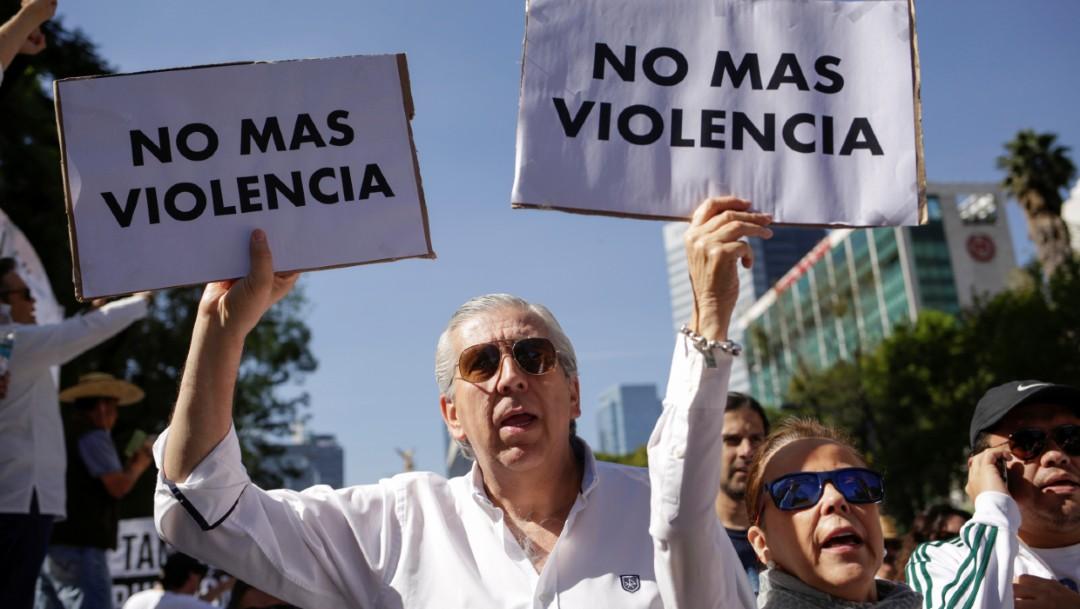 Marchan contra el primer año de gobierno de AMLO. (Reuters)