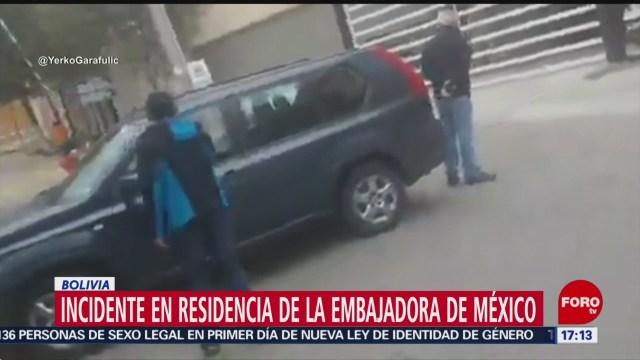 Foto: México Incidente Residencia Embajadora Bolivia 27 Diciembre 2019