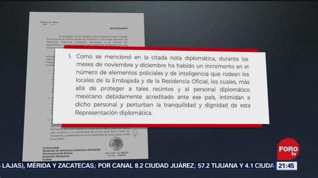 Foto: México Envía Carta Diplomática Bolivia Hostigamiento 25 Diciembre 2019