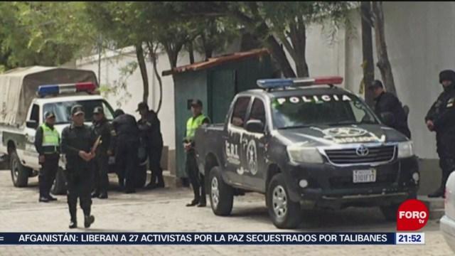 Foto: México Pidió Seguridad Embajada La Paz 26 Diciembre 2019