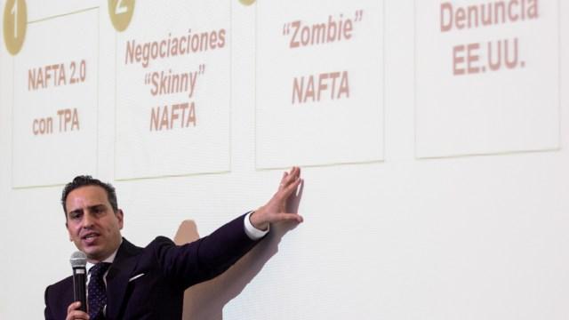 """FOTO: Empresarios y gobierno mexicano cierran filas contra propuestas """"inaceptables"""" de EEUU en T-MEC (Cuartoscuro/Galo Cañas)"""