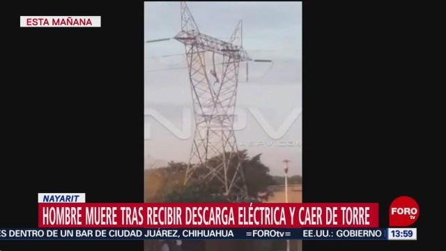 FOTO: muere hombre electrocutado en nayarit