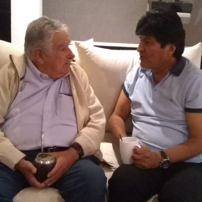 José Mujica visita al expresidente de Bolivia, Evo Morales, en la CDMX