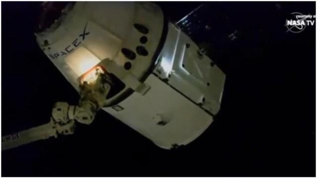 Foto: Nanosatélite mexicano AztechSat-1 llega a la EEI, 8 de diciembre de 2019 (EFE)