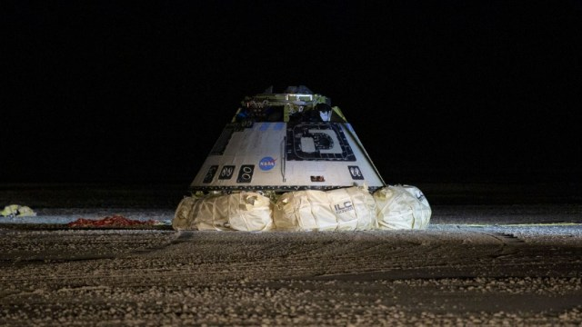 Foto: La nave espacial Starliner aterrizó este domingo en Nuevo México, 22 diciembre 2019