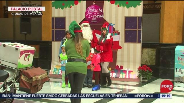 Foto: Palacio Postal Recibiendo Cartas Santa Claus 23 Diciembre 2019