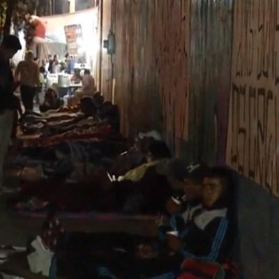 FOTO Peregrinos ya duermen en inmediaciones de la Basílica de Guadalupe (Noticieros Televisa 11 diciembre 2019 cdmx)