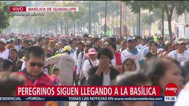 peregrinos siguen llegando a la basilica de guadalupe