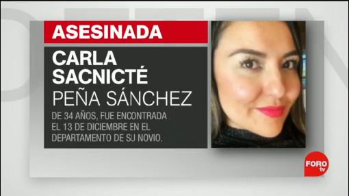 Foto: Pgjcdmx Investiga Feminicidio Carla Sacnicté Peña Sánchez 19 Diciembre 2019