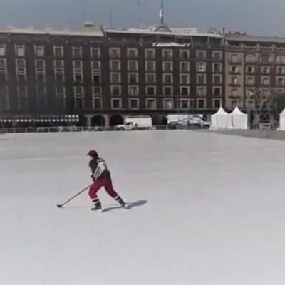Pista de hielo ecológico y sintético más grande del mundo abrirá este sábado en el Zócalo