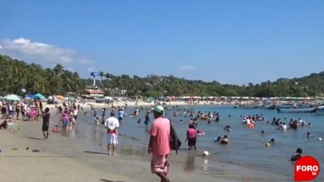 Foto: Las autoridades reportan un lleno casi total en todos los hoteles de Puerto Escondido