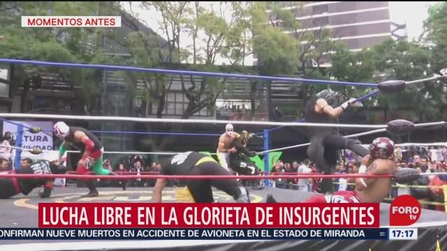 FOTO: 20 diciembre 2019, realizan funcion de lucha libre en la glorieta de insurgentes