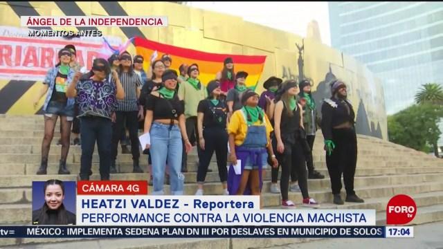 FOTO: Video Performance Un Violador En Tu Camino Ángel Independencia