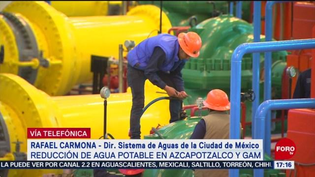FOTO: reduciran suministro de agua en las alcaldias de azcapotzalco y gustavo a madero