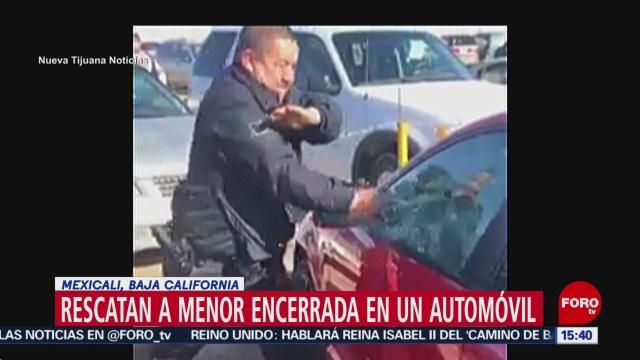 Foto: Rescatan Niña Encerrada Carro Mexicali 25 Diciembre 2019