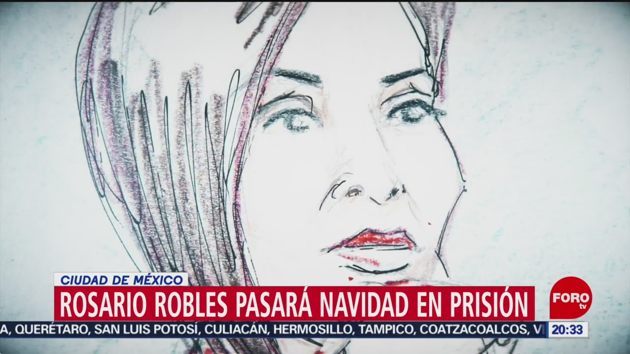 Foto: Rosario Robles Pasará Navidad Cárcel 6 Diciembre 2019