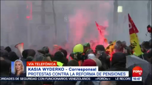 FOTO: Se cumplen 10 días de la huelga de transportistas en Francia, 14 diciembre 2019
