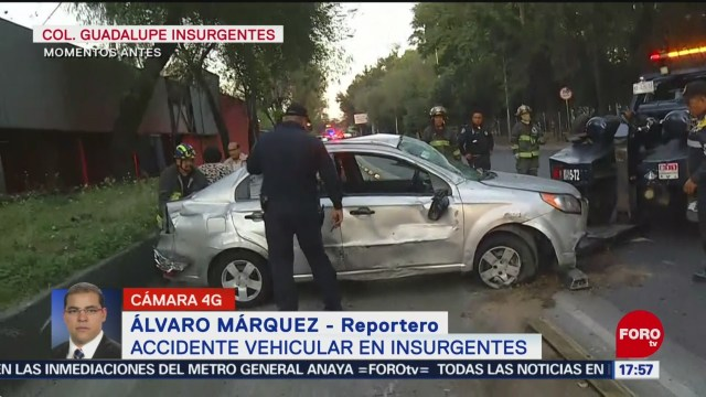 FOTO: Accidente Vehicular Insurgentes Norte 4 Diciembre