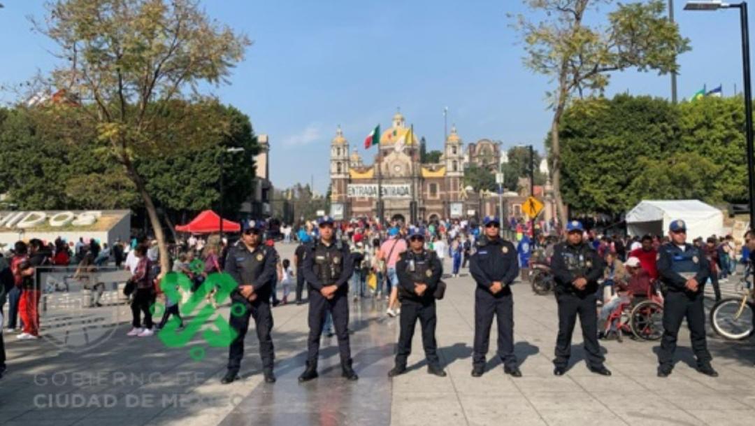 Foto: En el operativo de seguridad en la Basílica de Guadalupe participarán 5 mil 100 elementos policíacos, 10 diciembre 2019