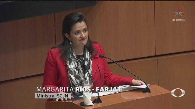 Foto: Senado Elige Margarita Ríos Farjat Nueva Ministra Scjn 5 Diciembre 2019