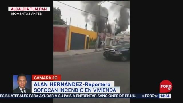 FOTO: 20 diciembre 2019, sofocan incendio de vivienda en tlalpan