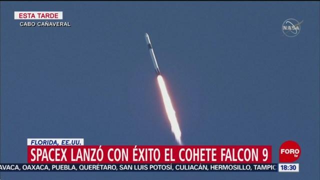 spacex lanza con exito el cohete falcon