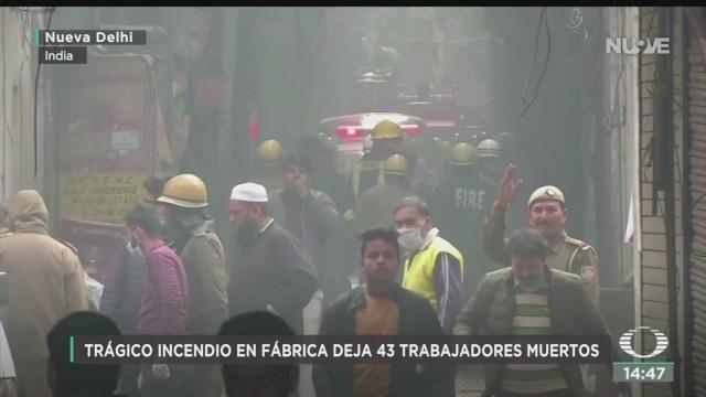 FOTO: Suman 43 Muertos Por Incendio Fábrica Nueva Delhi