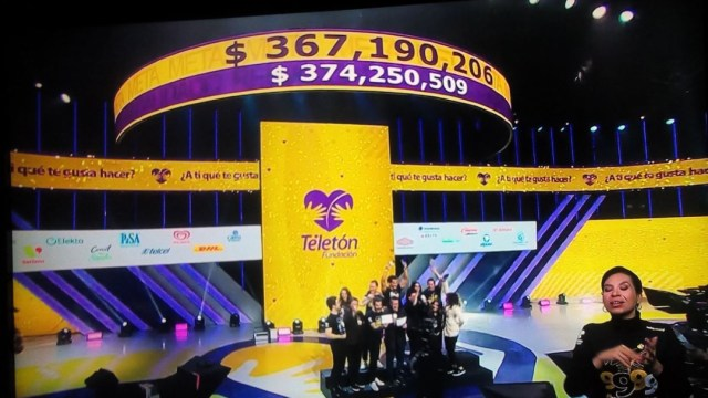 Foto: Finalizó Teletón tras alcanzar la cifra de 374 millones 250 mil 509 pesos, 15 diciembre 2019