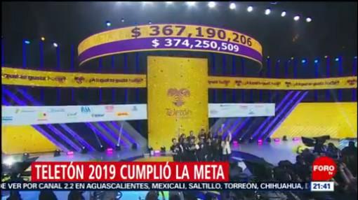 FOTO: Teletón supera la meta y recauda más de 374 millones de pesos, 15 diciembre 2019