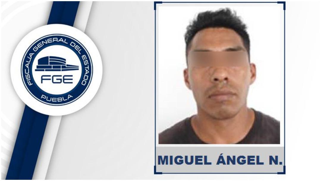 Foto: Miguel Ángel 'N' fue vinculado a proceso en Puebla, 8 de diciembre de 2019 (FGE Puebla)